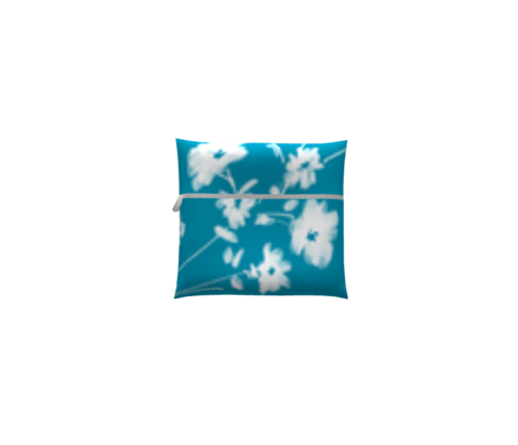 Large Breezy Hand-Painted Daisies | Blue #008FAF | White