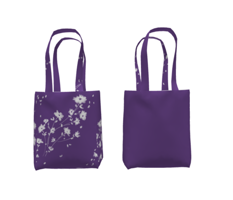 Breezy Painted Daises | Violet #6A458A