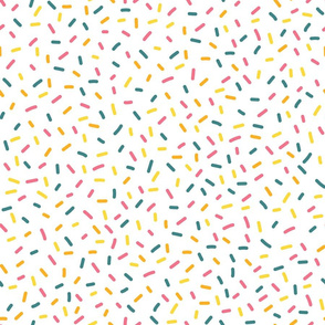 Party Sprinkles on White