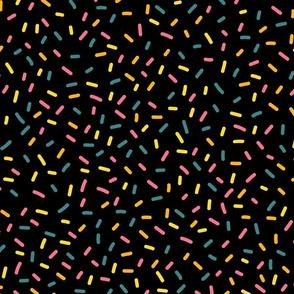 Sugar Sprinkles On Black
