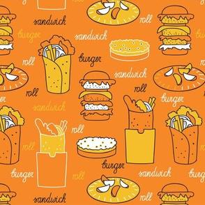 fast food_pattern_orange