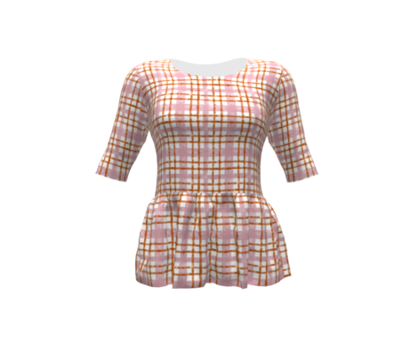 October Plaid Blush Terracotta