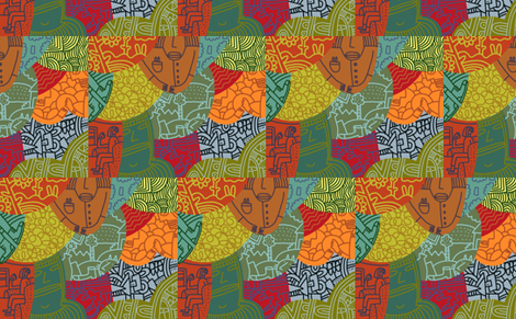 patchwork fabric by kimmurton on Spoonflower - custom fabric