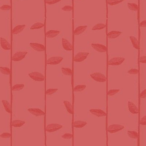 Alternate Leafy Stripe in Figgy Pink