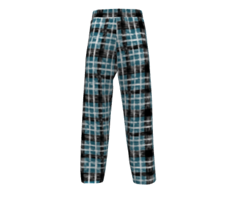 October Plaid in Lagoon - White - Black classic