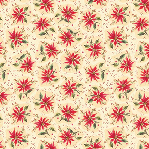 Poinsettia Floral Cream