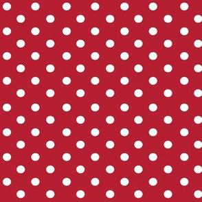 bolas blancas rojo