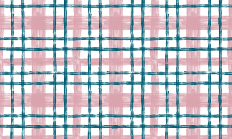 October Blush & Lagoon plaid fabric by helenpdesigns on Spoonflower - custom fabric