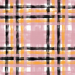 October Plaid N2 Blush & Saffron