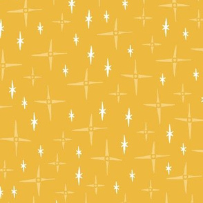 funky sparkles on golden yellow