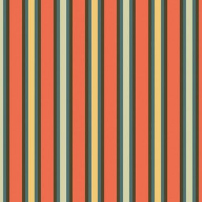 green and gold stripes on red
