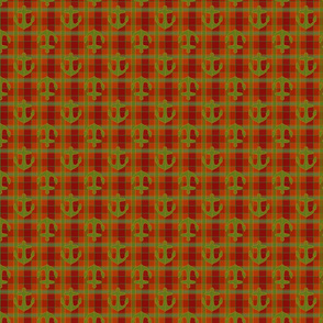 anchor red green gold plaid