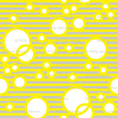 NurseryBubbles YellowLightGreyWhite