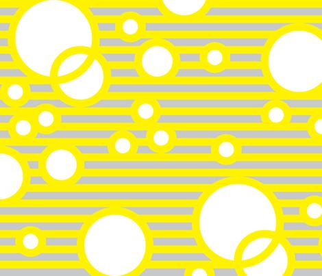 NurseryBubbles YellowLightGreyWhite fabric by patternmutation on Spoonflower - custom fabric