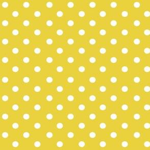 bolas blancas amarillo