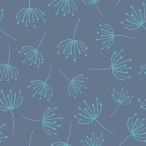 Dandelion Seeds Blue