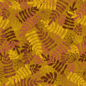 Autumn Foliage Gold Red Brown