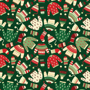 Ugly Christmas Fashion red green white