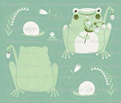 Cut & Sew | Strawberry Frog Plushie