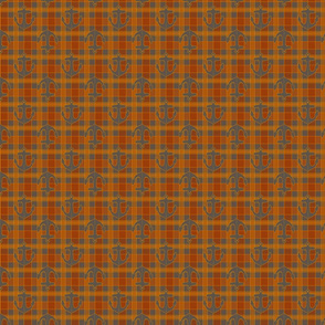 anchor orange gray plaid