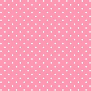 White and Rose Pink Polka Dots