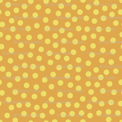 Yellow dots on orange