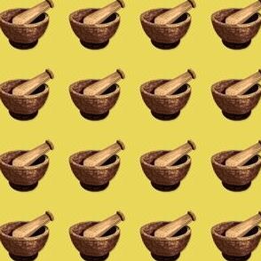 Mortar on Yellow