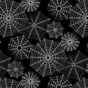 spiderwebs black white