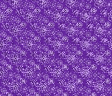 spiderwebs purple fabric by trgatesart on Spoonflower - custom fabric