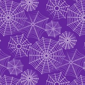 spiderwebs purple