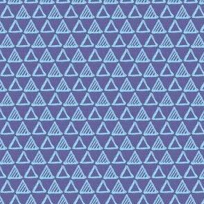 Gel Pen Triangles - Blue