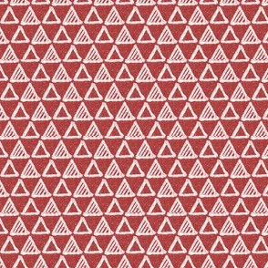 Gel Pen Triangles - Brick