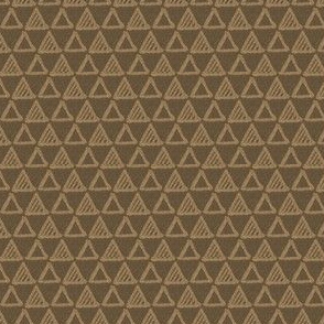 Gel Pen Triangles - Brown