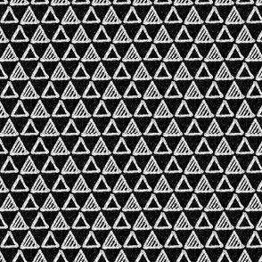 Gel Pen Triangles - Black