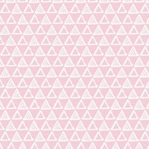 Gel Pen Triangles - Dusty Rose
