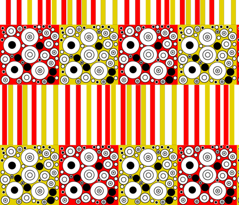 red and yellow ethinic fabric by silskin on Spoonflower - custom fabric