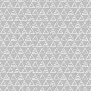 Gel Pen Triangles - Gray