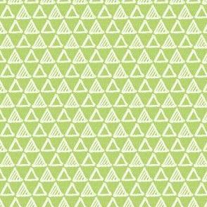 Gel Pen Triangles - Apple Green