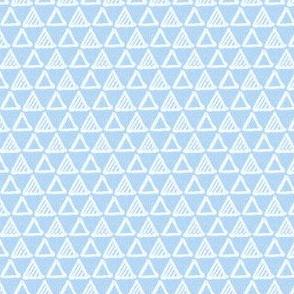 Gel Pen Triangles - Light Blue