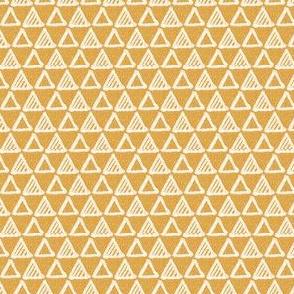 Gel Pen Triangles - Goldenrod