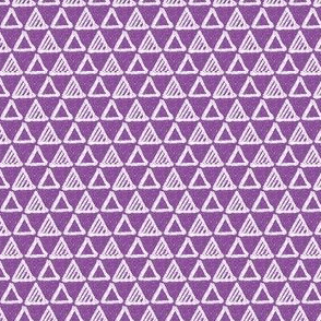 Gel Pen Triangles - Purple