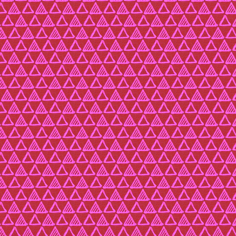 Gel Pen Triangles - Red and Pink fabric by siya on Spoonflower - custom fabric