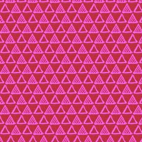 Gel Pen Triangles - Red and Pink