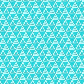 Gel Pen Triangles - Turquoise