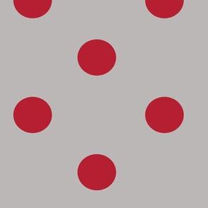 bolas gris rojo