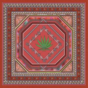 Hemp Persian Carpet Rust 12x12