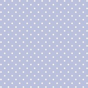 Periwinkle Blue and White Polka Dots
