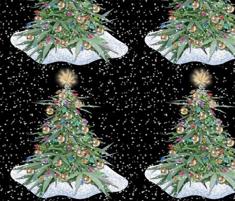 Cannabis Xmas Tree 12x12  fabric by camomoto on Spoonflower - custom fabric