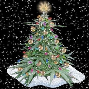 Cannabis Xmas Tree 12x12