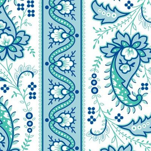 p25 19th Century Paisley Blue Aqua
